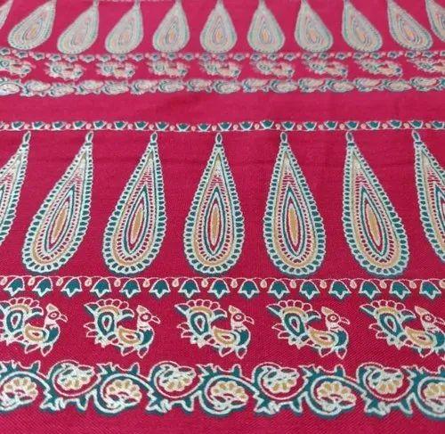 Rayon Border Gold Print Fabrics