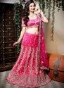 Georgette Dubka Work Wedding Lehenga