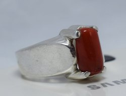 Natural & Original Gemstone Moonga Coral Ring
