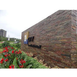 Designer Outdoor Stone Wall Cladding, Thickness: 10mm