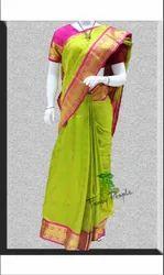 Ladies Kanchipuram Pure Silk Saree, Length: 6.m (with Blouse Piece)