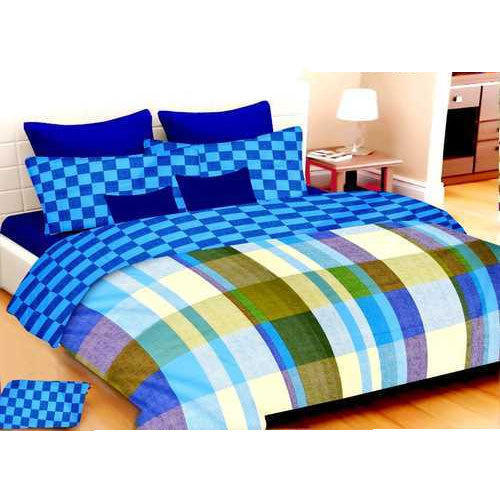 7600d8335a Pure Cotton (Casement Fabric) Designer Double Bed Sheet, Size: 90 X 100