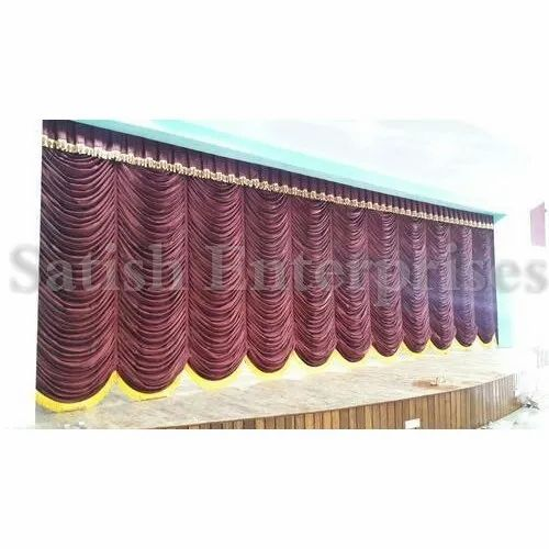 Maroon Vertical Curtain