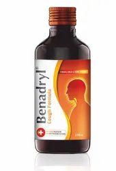 Plastic Benadryl Cough Formula, for Dry Cough