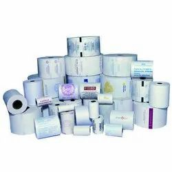 White PRINTED THERMAL PAPER ROLL