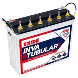 Lead Acid Battery Exide Inva Tubular Battery, Capacity: 110-200 Ah, 12V