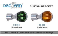 Green Bubble And Red Copper Curtain Bracket