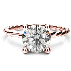 0.30Ct Real Diamond Solitaire Engagement Ring