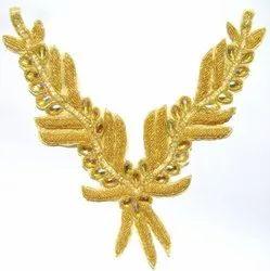Golden Beaded & Sequins Neckline