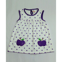 Regular Wear Cotton Apple Printed Baby Frock