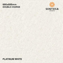 Multicolour Platinum White Double Charge Vitrified Tiles, 8 - 10 mm, Size (In cm): 60 * 60