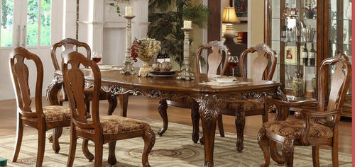 Wooden Carved Antique Dining Set - Aarsun Woods Private ...