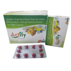 Actify Soft Gel Capsules, Packing Size: 1 X 10 Softgel Capsules, Packaging Type: Strip