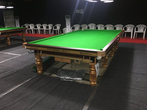 Copper Finished Billiard Pool Table Twin Digital Score Keeping Unit