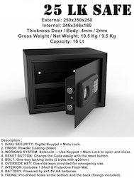 SW 25 LK Safe Locker (Dual Security)