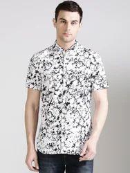 Black & White Half Sleeve Shirts For Men