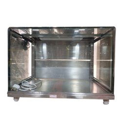 Stainless Steel Rectangular SS Glass Display Counter, Warranty: 1 Year