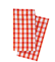 Orange Azure Red Green Grey Check Napoli Napkin, Size: 45x45cm