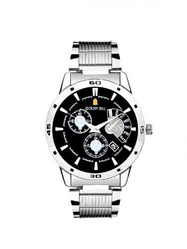 2b56ba2b6263 Micron Men Black Dial Steel Chain Wrist Watch