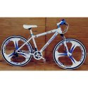 White Racing Foldable Cycle