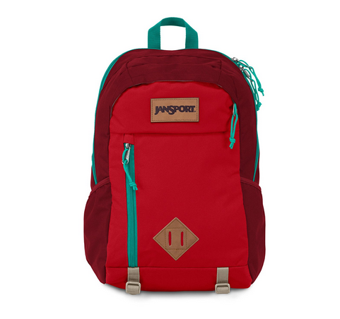 Jansport Fox Hole Red Tape Laptop Backpack