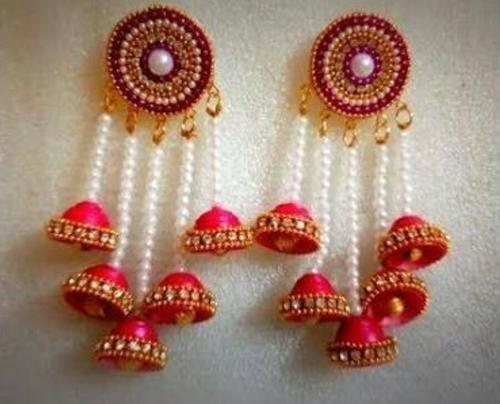 Silk Thread Jewellery Silk Thread Earrings Manufacturer From Lucknow