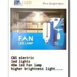 Plastic Cool White C&S LED 40W LED FAN LAMP, B22, Voltage: 210 V