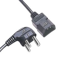 3 Pin Plug-Shrouded Plug Computer Cords