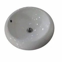 Wall Mounted Ceramic Round Shape Wash Basin