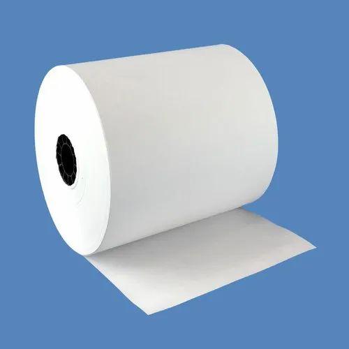 Plain White ATM Paper Roll, GSM: 80 - 120