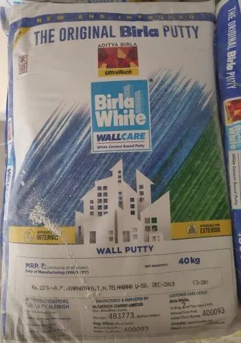 Birla White Wall Putty For Exterior And Interior Rs 960 Bag Id 20650166291