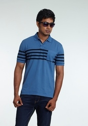 Party Wear Cotton Stylish Casual Polo T Shirt, Size: Small, Medium, Large, XL