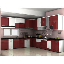 Wooden L Shape Royal Modular Kitchen Warranty 1 5 Years Rs 1650