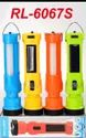 RL-6067S Rock Light Solar Rechargeable Torch With Side Light