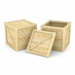 Square Wooden Crate Box