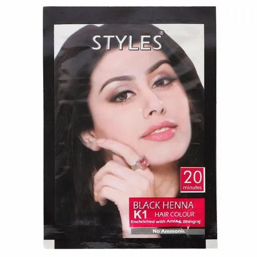 e1023f94e Black Henna K1 Hair Color, Pack Size: 6 Pouch, Rs 60 /box | ID ...