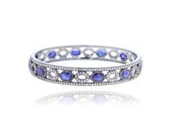 Blue Sapphire Gemstone Bangle