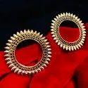 Oxidized Golden Earrings