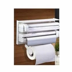 3 In 1 Kitchen Triple Foil Cling Wrap Paper And Holder -Triplal Paper Dispenser