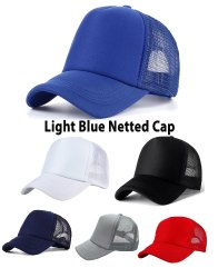 Netted Light Blue Mesh Cap