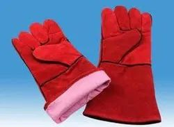 Plain Chrome Leather Reversible Hand Gloves