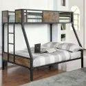 Black Teak Wood Bunk Bed Without Box, Size: 190*120*150 Cm
