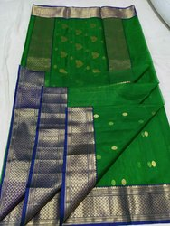 Chanderi silk saree with blouse