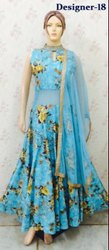 Floral Printed Ladies Anarkali Party Gown