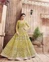 Designer Heavy Net With Full Embroidery Anarkali Suit