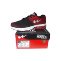 Campus Black And Red Colored Jogging Shoes, Size: 7