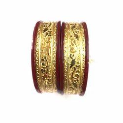 Maniar Bangles Acrylic Wedding Wear Gold Plated Fancy Bangles
