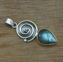 925 Sterling Silver Beautiful Labradorite Gemstone Pendant