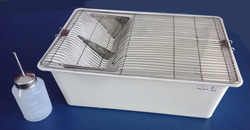 Animal Cage Polypropylene With S.S.Grill & With Water Bottle