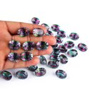 Natural Faceted Mystic Quartz in Brilliant Cut in Assortment for Jewelry Making Stone